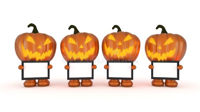 Halloween-Pompoen 3d Halloween stock illustratie