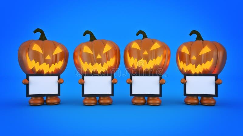 Halloween-Pompoen 3d Halloween vector illustratie