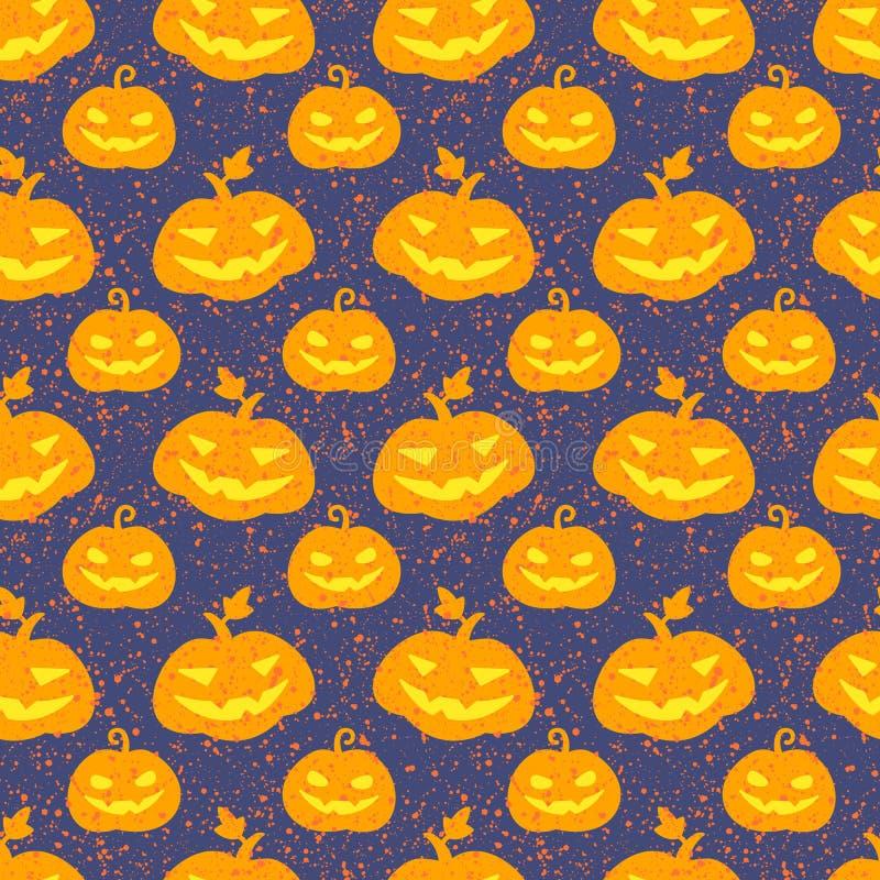 Halloween-pompoen naadloos vectorpatroon vector illustratie