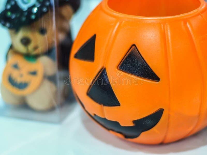 Halloween-pompoen, selectieve nadruk stock afbeeldingen