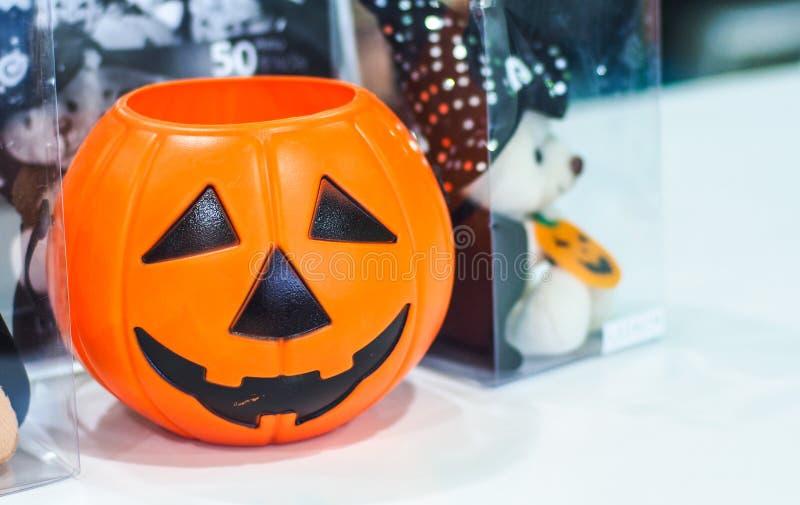 Halloween-pompoen, selectieve nadruk stock fotografie