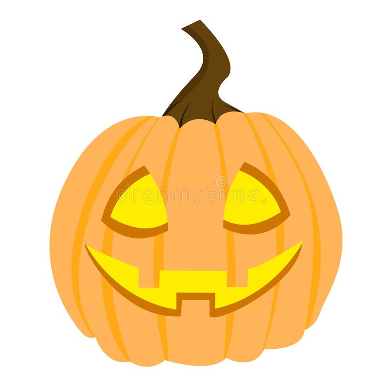 Halloween-pompoen vector klaar voor Halloween-partij eps royalty-vrije illustratie