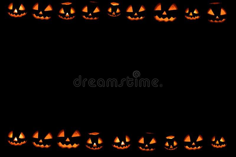 Halloween-pompoenenbehang stock afbeelding