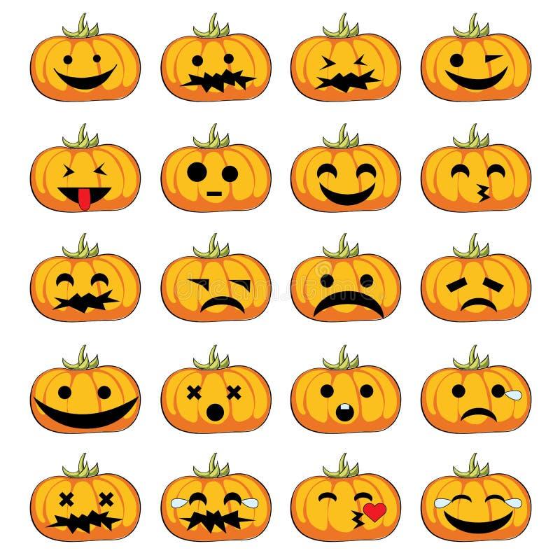 Halloween-pompoenenglimlachen stock foto