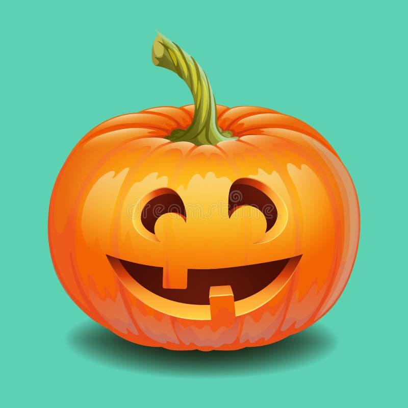 Halloween-pompoengezicht - grappige glimlachjack o lantaarn vector illustratie
