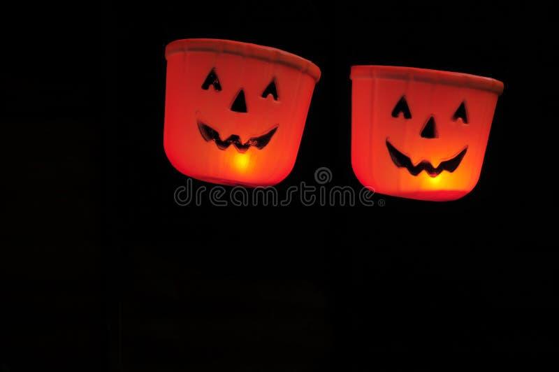 Halloween-Pompoenhoofden stock afbeelding