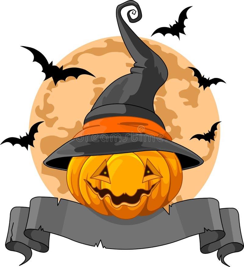 Halloween-Pompoenontwerp stock illustratie