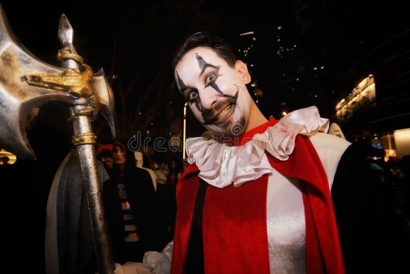Halloween Portrait eines Mannes lizenzfreie stockbilder