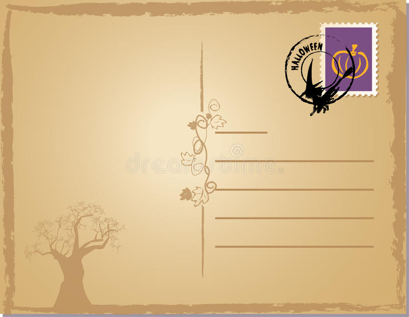 Download Halloween post card stock vector. Illustration of background - 10672400