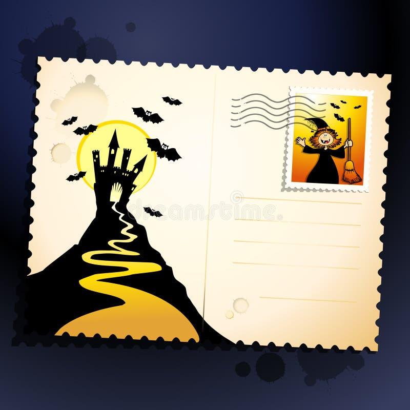 Download Halloween postcard stock vector. Image of moonlight, night - 21201951
