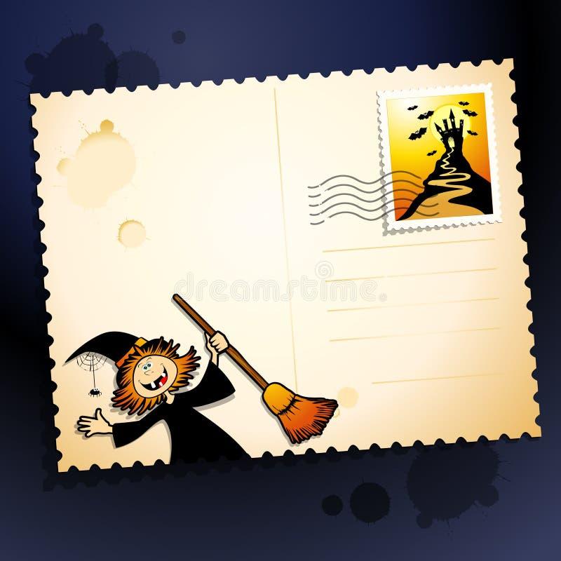 Download Halloween postcard stock vector. Image of decoration - 21201968