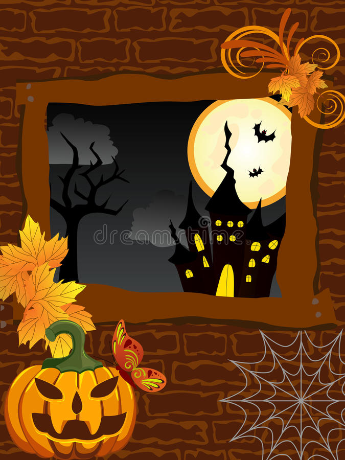 Halloween poster royalty free illustration