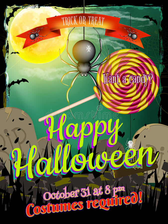 Free Halloween Poster Background. EPS 10 Royalty Free Stock Photography - 58649147