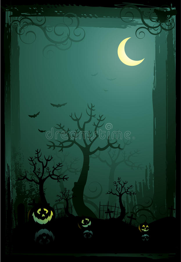 Halloween poster backgrounds vector illustration