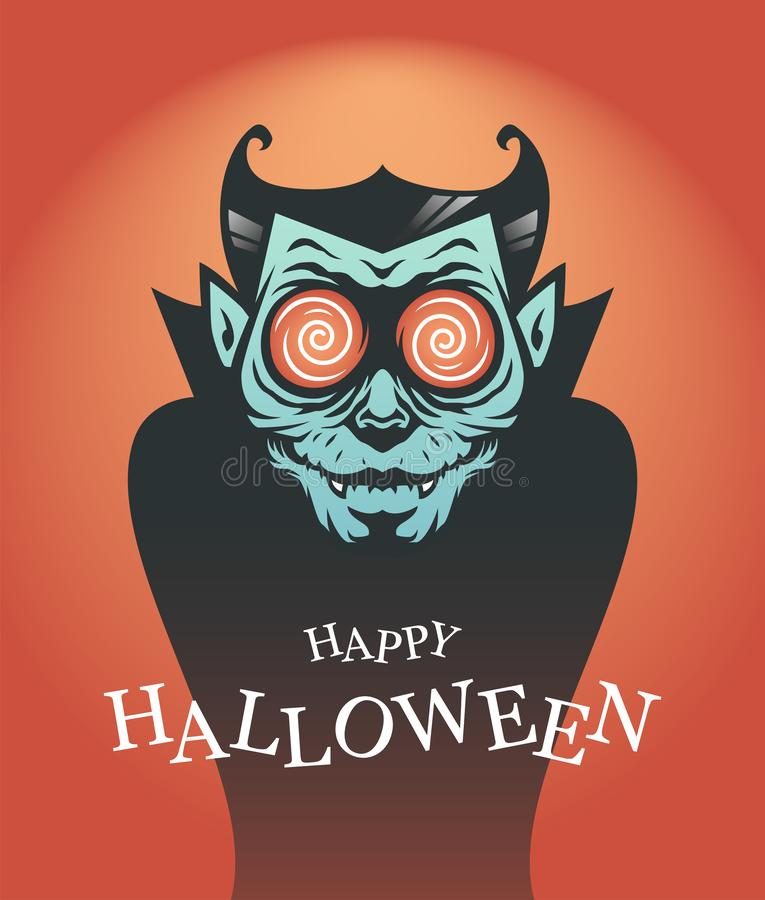 Halloween poster with Dracula vampire stock images