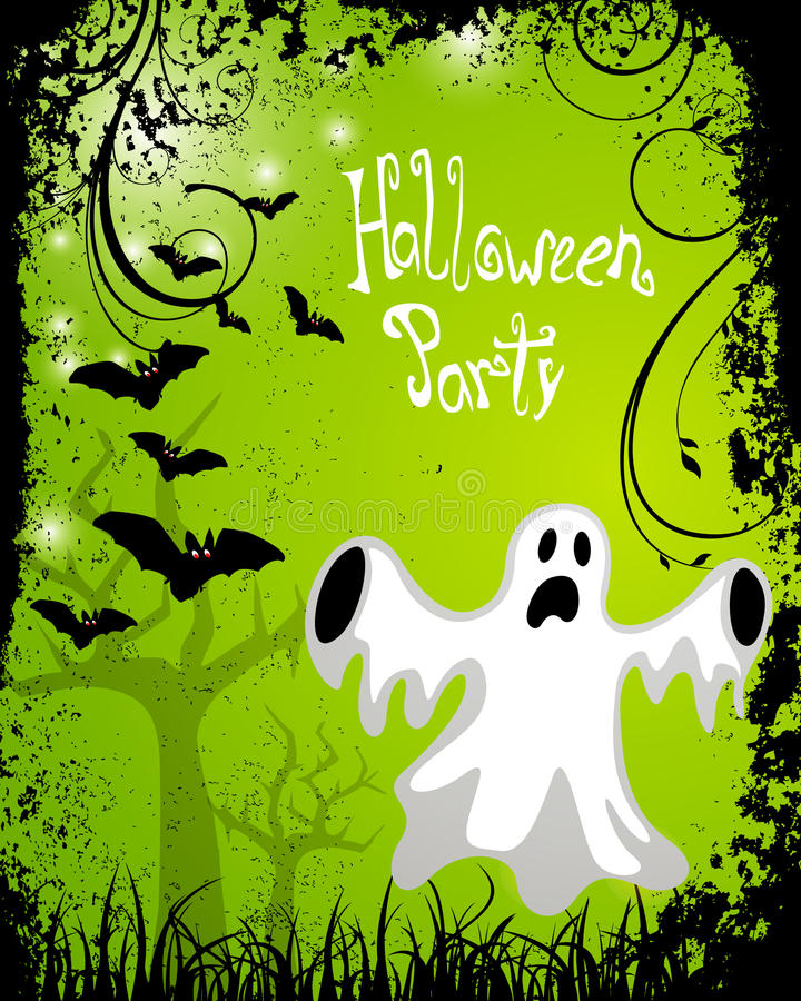 Halloween poster royalty free illustration