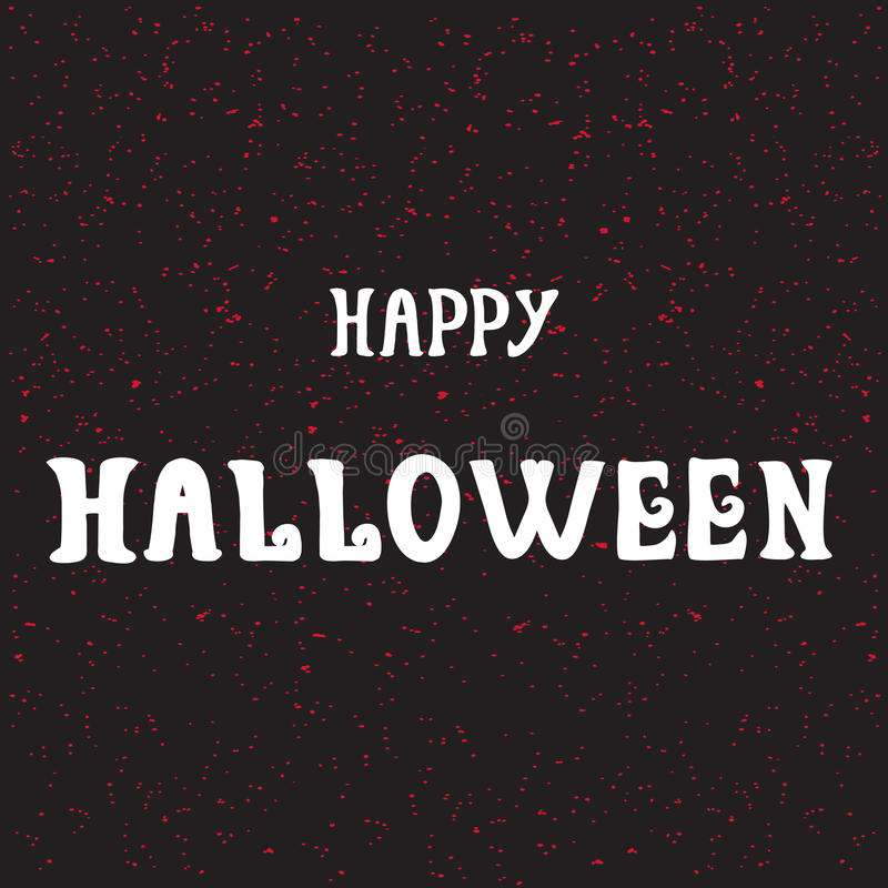 Free Halloween Poster With Text Stock Photography - 78429952