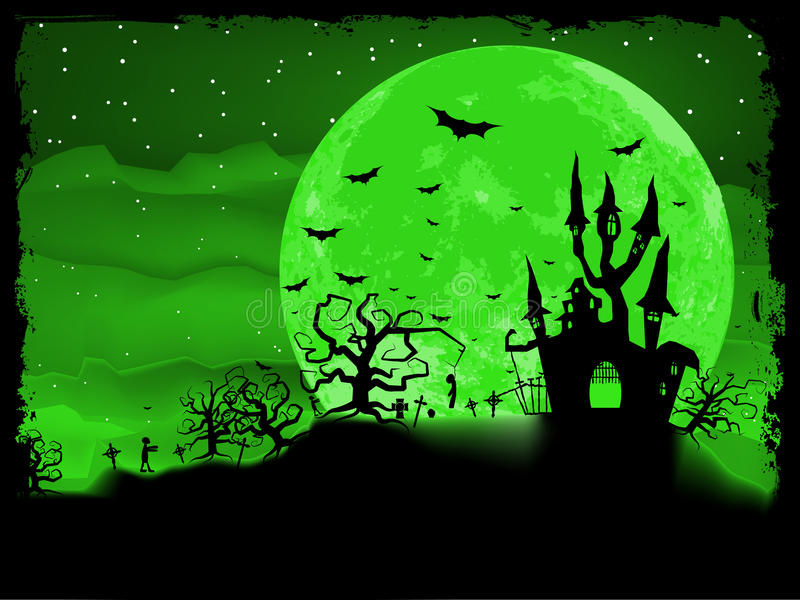 Download Halloween Poster With Zombie Background. EPS 8 Stock Vector - Image: 26931573