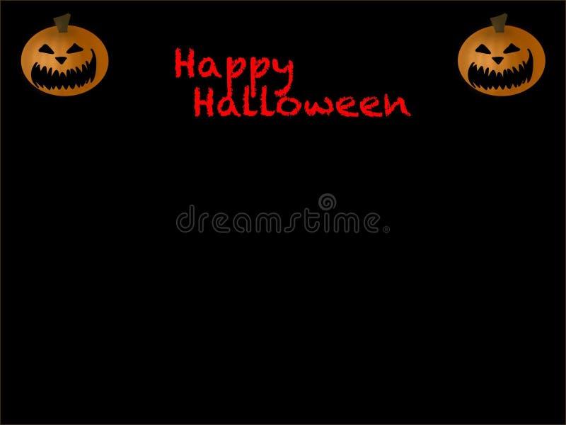 Halloween-Postkarte mit Raum für Text stockbild