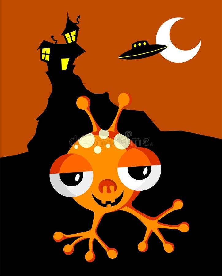 halloween potwór ilustracji