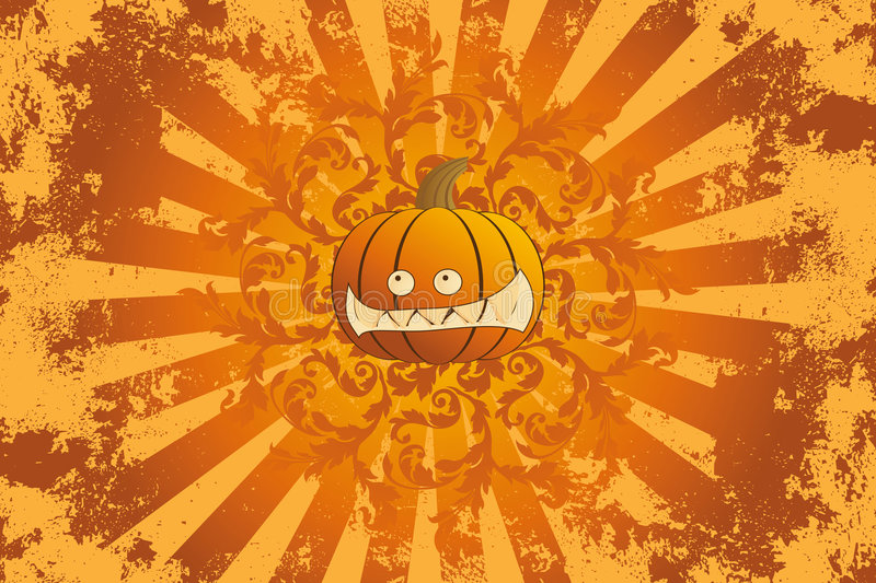 halloween prydnadpumpa stock illustrationer