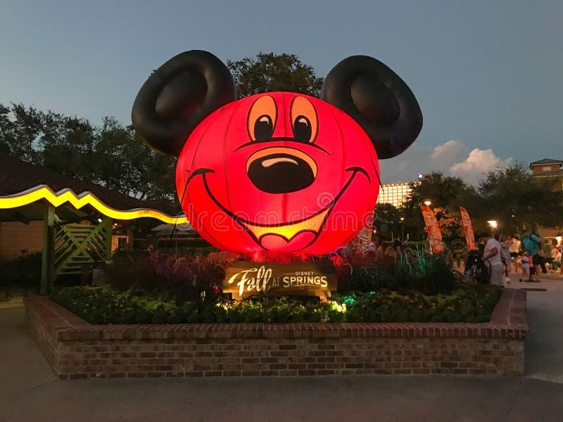 Halloween przy Disney wiosnami, Orlando, Floryda obraz royalty free