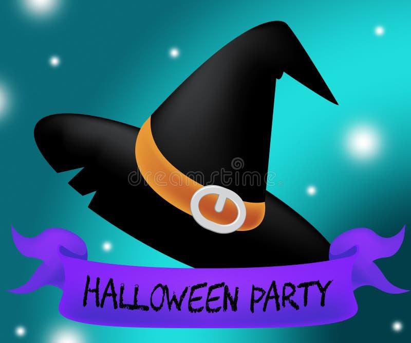 Halloween przyjęcia przedstawień funda Lub Trikowy I Świętujemy royalty ilustracja