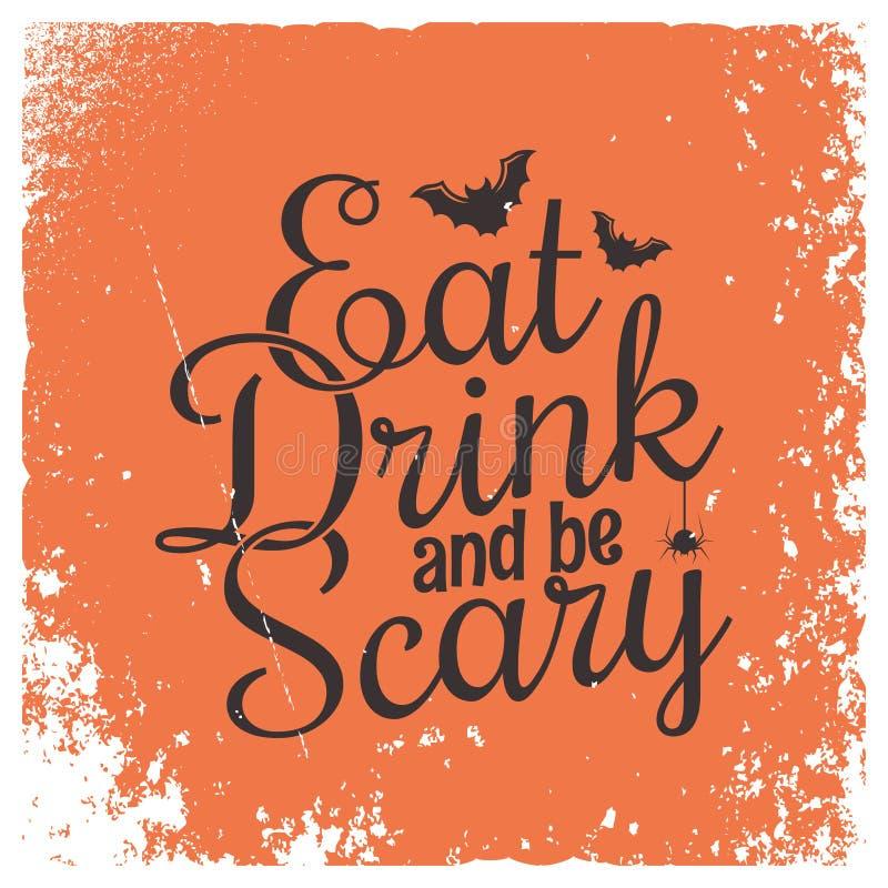 Halloween przyjęcia rocznika literowania tło obraz royalty free