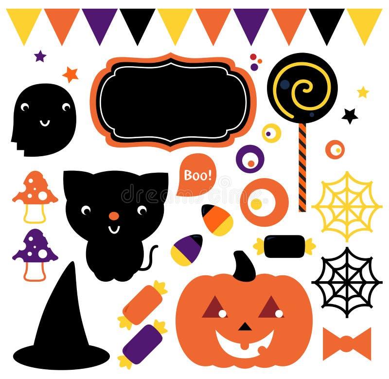 Halloween przyjęcia set ilustracji