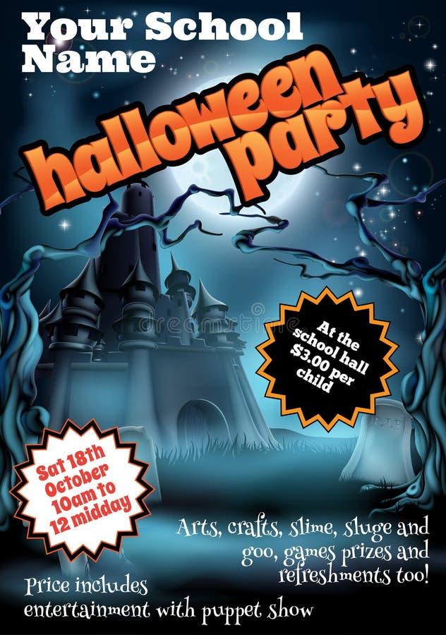 Halloween przyjęcia ulotki plakat royalty ilustracja
