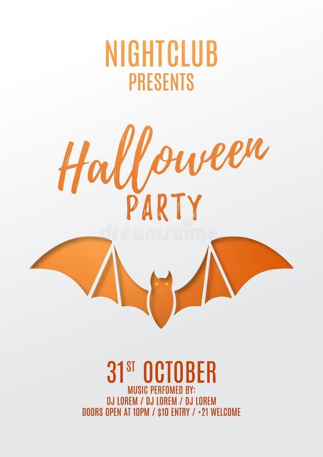 Halloween przyjęcia ulotki projekt ilustracja wektor