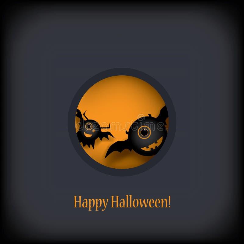 Halloween przyjęcia zaproszenie z uroczymi potworami ilustracji