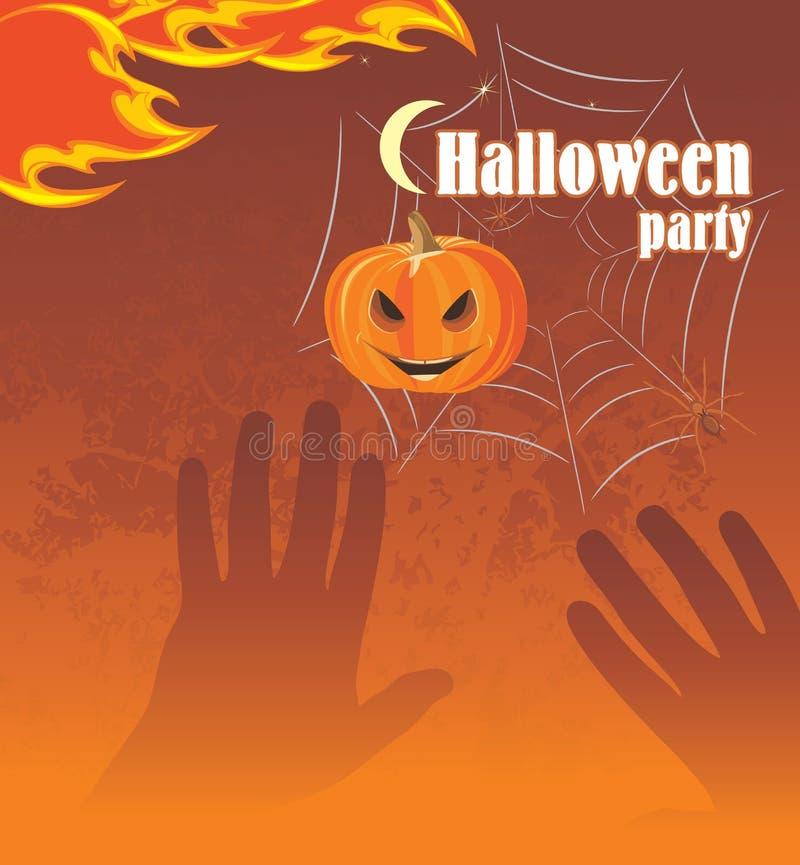 Halloween przyjęcie. Abstrakcjonistyczny tło royalty ilustracja