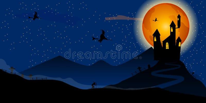 Halloween przyjęcie również zwrócić corel ilustracji wektora zdjęcia stock