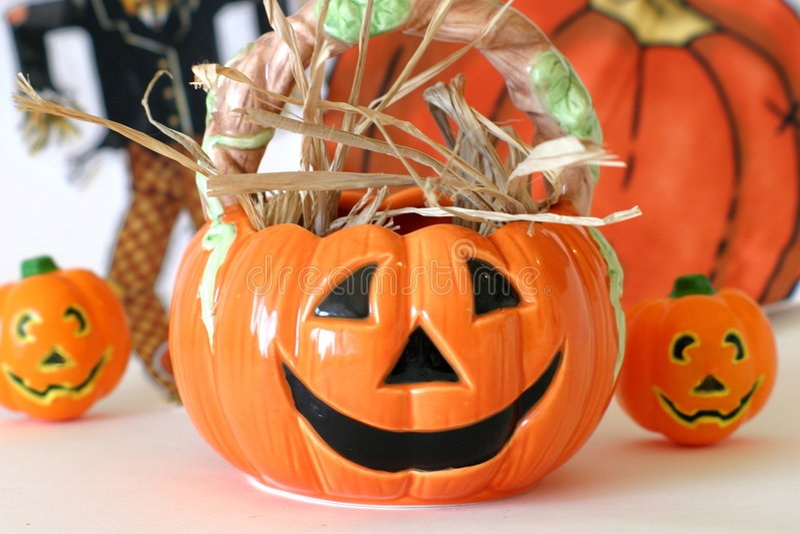 halloween pumkins royaltyfri foto