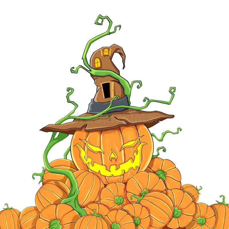 Halloween pumpa royaltyfri illustrationer