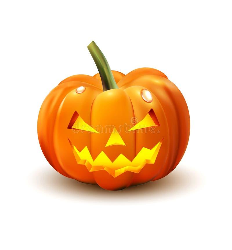 Halloween pumpa som isoleras på white stock illustrationer