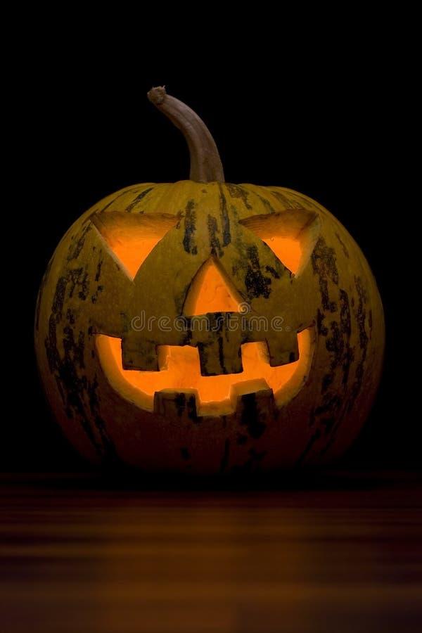 Halloween pumpa vänder mot royaltyfri bild