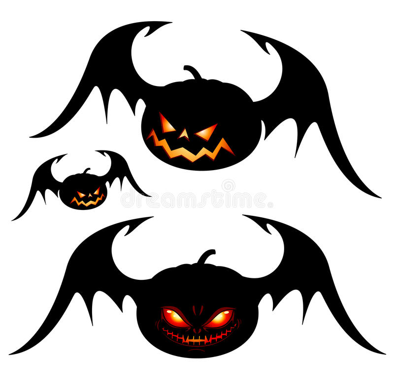 halloween pumpavingar stock illustrationer