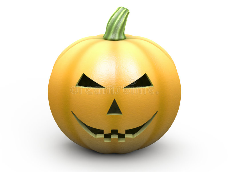 halloween pumpawhite royaltyfri illustrationer