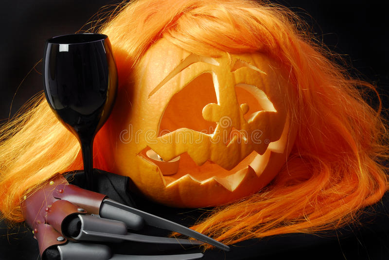 Download Halloween pumpkin stock photo. Image of colorful, night - 11335956