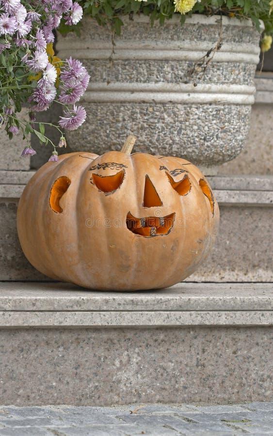 Download Halloween pumpkin stock photo. Image of exterior, pavement - 14748322