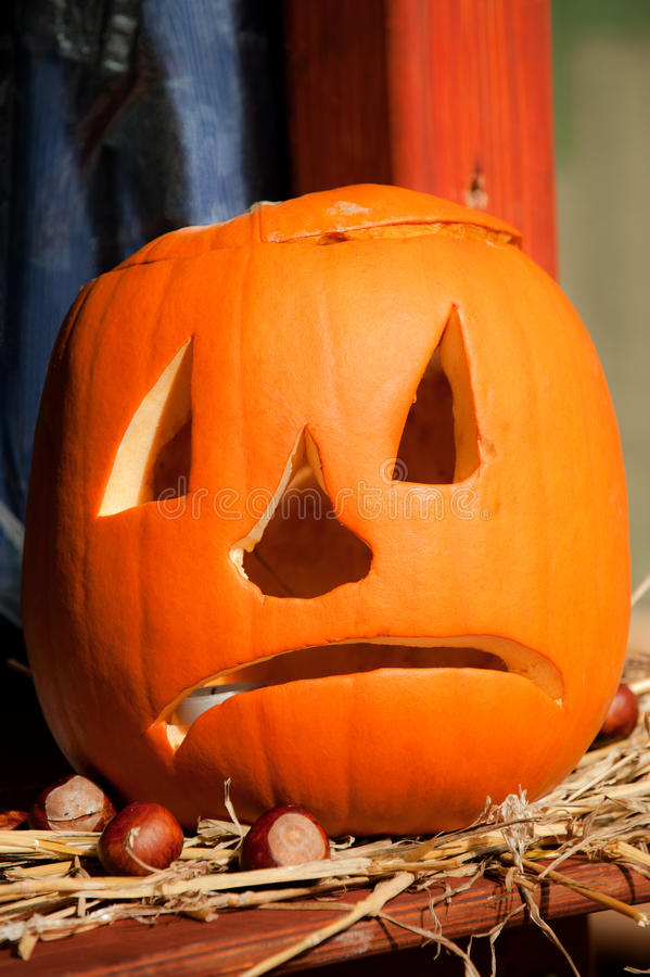 Download A halloween pumpkin stock photo. Image of mask, fright - 16595046