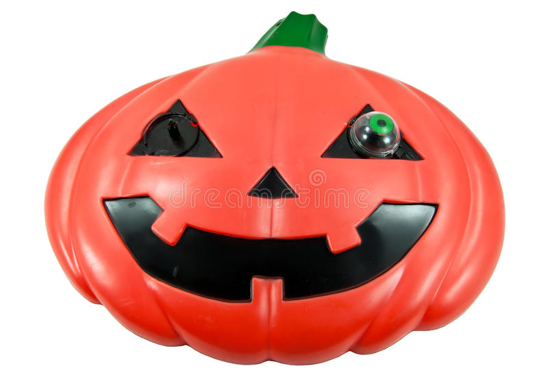 Halloween Pumpkin. Scary Jack O'Lantern over white royalty free stock photography
