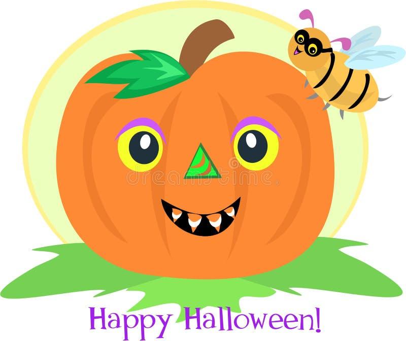 Download Halloween Pumpkin and Bee stock vector. Image of wildlife - 14928961
