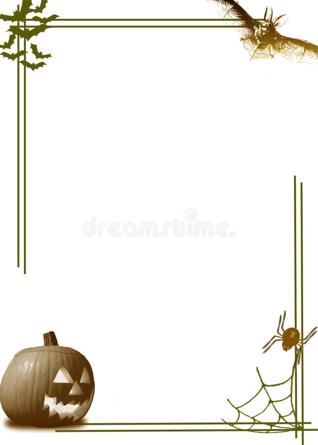 Halloween pumpkin border royalty free stock image