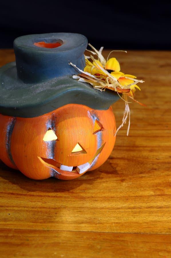 Halloween pumpkin. And candles light stock photos