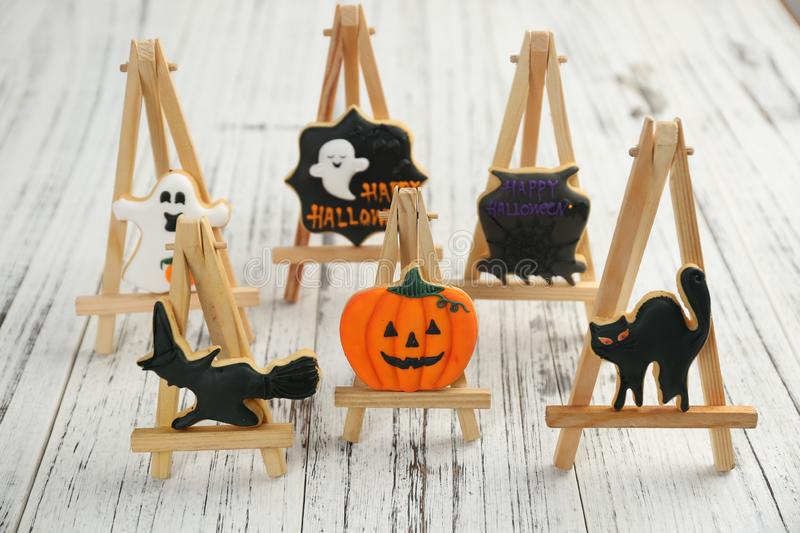 Halloween Pumpkin Candy Ghost Cake Bats Trick or Treat All Saints Day royalty free stock images
