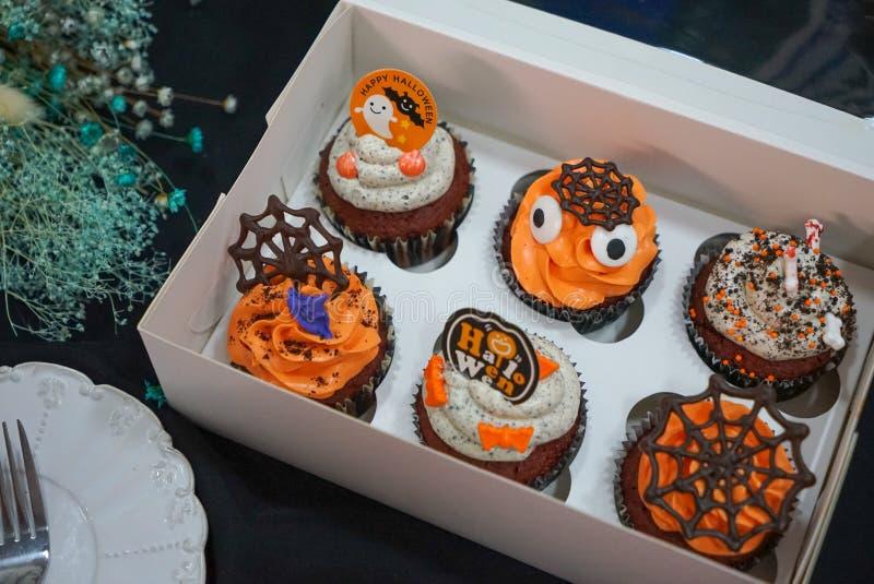 Halloween Pumpkin Candy Ghost Cake Bats Trick or Treat All Saints Day stock photos