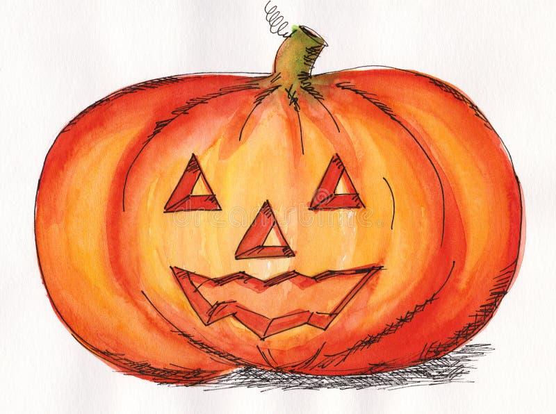 Halloween pumpkin face royalty free illustration